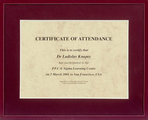 Certificitate of attendance
